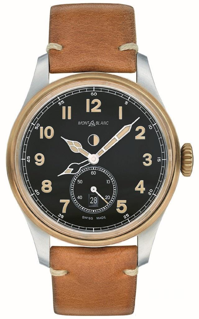 复古腕表展现顶级工艺:万宝龙1858系列青铜腕表